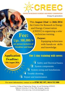 YOUTH  EMPOWERMENT WITH SOLAR TECHNICIAN TRAININGS